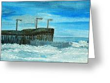 Stormy At Morro Bay Greeting Card by Leslye Miller