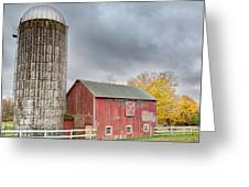Stormy Autumn Skies Square Greeting Card