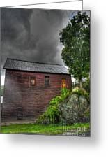 Stormy Barn Greeting Card