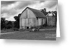 Stormy Barn Greeting Card by Perry Webster
