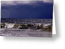 Stormy Beach Greeting Card by Carolyn Marshall