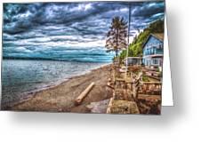 Stormy Beach Greeting Card