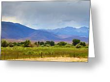 Stormy California Mountains Greeting Card