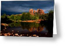 Stormy Day At Cathedral Rock Greeting Card