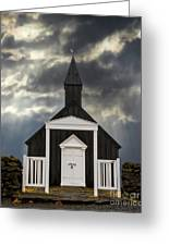 Stormy Day At The Black Church Greeting Card