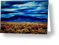Stormy Day In Taos Greeting Card