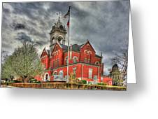 Stormy Day Jones County Georgia Court House Art Greeting Card