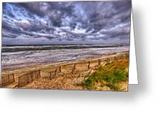 Stormy Dunes Greeting Card