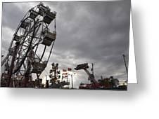 Stormy Ferris Wheel Greeting Card