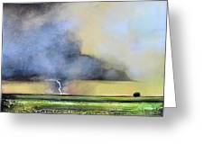 Stormy Field Greeting Card