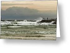 Stormy Fishing Greeting Card