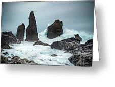 Stormy Iclandic Seas Greeting Card