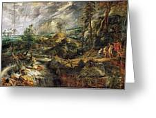 Stormy Landscape -  1625 Peter Paul Rubens Greeting Card