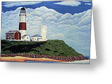 Stormy Montauk Point Lighthouse Greeting Card