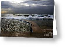 Stormy Morning At Collaroy Greeting Card by Avalon Fine Art Photography