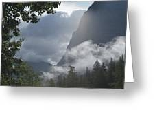 Stormy Morning In Glacier Greeting Card
