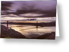 Stormy Morning Sf Bay Bridge Greeting Card