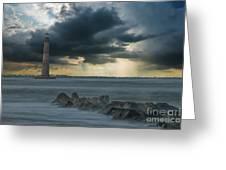 Stormy Morris Island Greeting Card