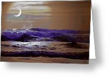 Stormy Night Greeting Card by Aaron Berg