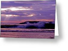 Stormy Ocean Panoramic  Greeting Card
