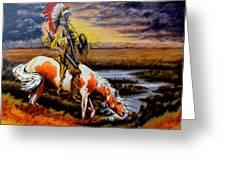 Stormy Prairie Greeting Card