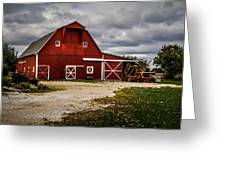 Stormy Red Barn Greeting Card