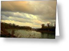 Stormy River Greeting Card