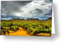 Stormy Road Home Greeting Card