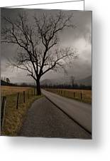 Stormy Roads Greeting Card