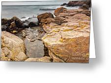 Stormy Rock Beach Greeting Card