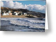 Stormy Seafront - Lyme Regis Greeting Card
