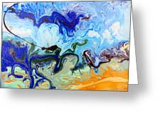 Stormy Seas Abstract #3 Greeting Card