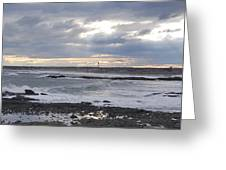 Stormy Seas And Sky Greeting Card