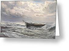 Stormy Seas Greeting Card by Henry Moore