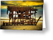 Stormy Shipwreck Greeting Card