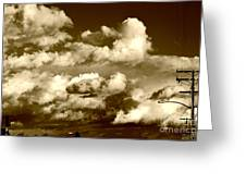 Stormy Skies In Socal Greeting Card