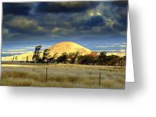 Stormy Skies Over Sunset Cinder Cone Greeting Card