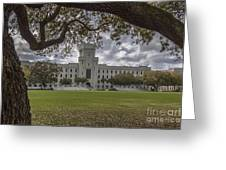 Stormy Skies Over The Citadel Greeting Card