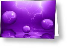 Stormy Skies - Purple Greeting Card