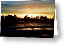 Stormy Sunrise Over The Ocean  Greeting Card