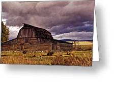 Stormy Sunset At Moulton Barn Greeting Card