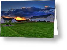 Stormy Sunset In The Country Greeting Card
