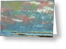 Stormy Coastal Sunset Greeting Card