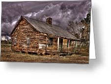 Stormy Times Tenant House Greene County Georgia Art Greeting Card