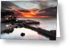 Stormy Twilight Afterglow Greeting Card