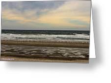 Stormy View Of Nantsaket Beach Greeting Card