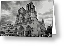 Stormy Views Of Notre-dame Greeting Card