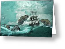 Stormy Weather Greeting Card by Solomon Barroa