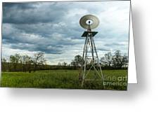 Stormy Windy Windmill Greeting Card