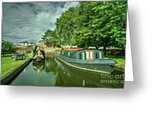 Stourport Narrowboats  Greeting Card